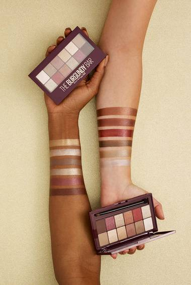 burgundy-bar-eye-shadow-palette-arm-swatches