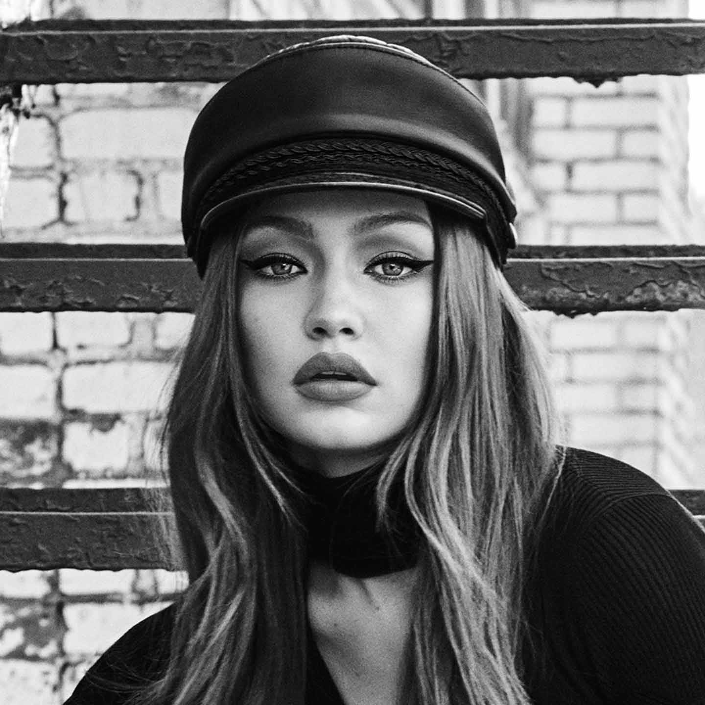 Image result for gigi hadid black and white